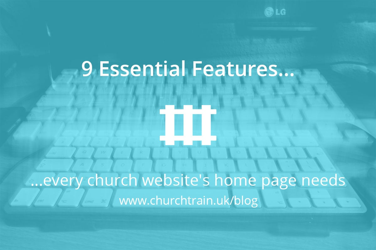 Church Website Home Page 9 Essential Features Churchtrain