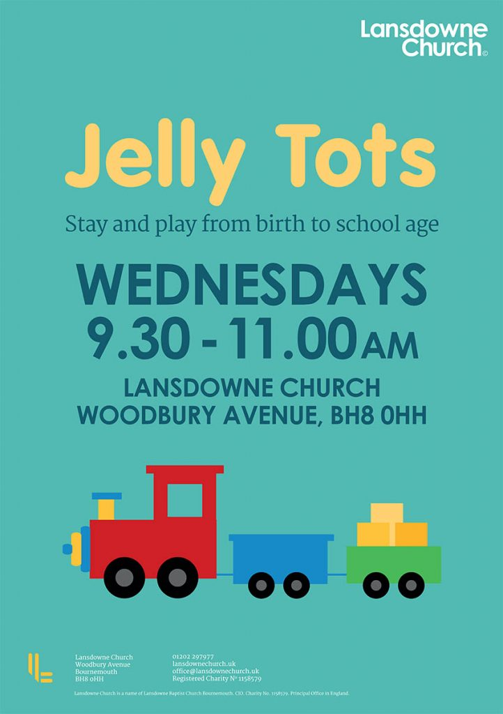 Jelly Tots Kids Church Poster Design - ChurchTrain